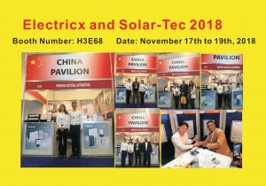 Electricx and Solar-Tec 2018  Booth Number: H3E68